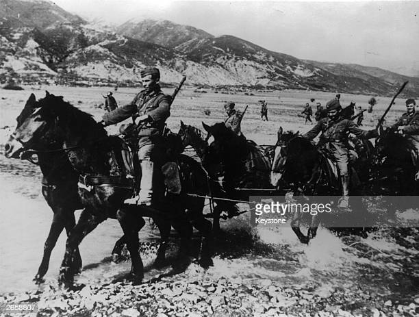 Wehrmacht horse artillery during the invasion of Bulgaria