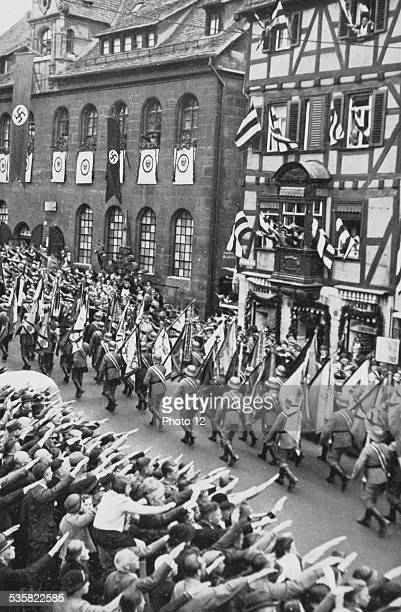 Wehrmacht parade through the streets of Nuremberg during the Party Congress of the NSDAP Weimar Republic