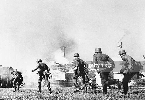 Wehrmacht Troops Take a Ukrainian Village