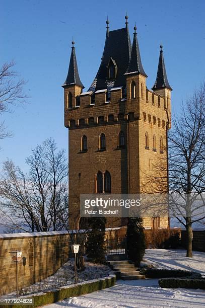 Wehrturm Burg 'Hohenzollern' Bisingen BadenWürrtemberg Deutschland Europa Denkmal Sehenswürdigkeit touristische Attraktion Architektur Neugotik Turm...