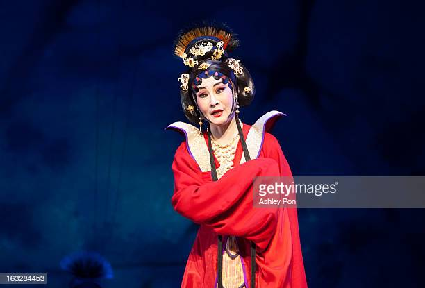 """Wei Hai Ming of the Taiwan Guoguang Opera Company performs scenes from the """"Flowing Sleeves and Rouge"""" as part of the Taiwan International Festival..."""