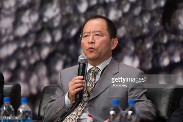 Wei Jianghong chairman of Tongling Nonferrous Metals Group Co speaks during the London Metal Exchange Week Asia 2013 Seminar in Hong Kong China on...