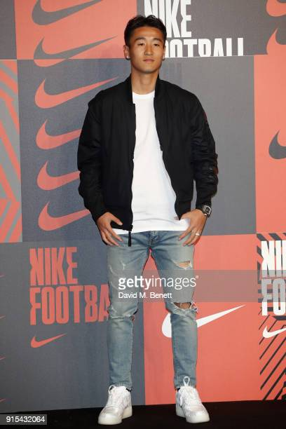 Wei Shihao attends in celebration of the 20th anniversary of Nike's most iconic football boot some of the world's best footballers arrive in South...