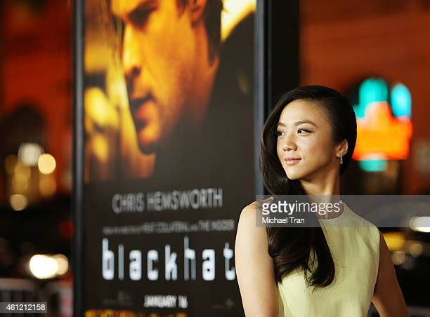 Wei Tang arrives at the Los Angeles premiere of 'Black Hat' held at TCL Chinese Theatre IMAX on January 8 2015 in Hollywood California