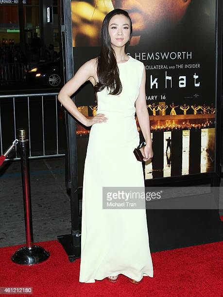 Wei Tang arrives at the Los Angeles premiere of 'Blackhat' held at TCL Chinese Theatre IMAX on January 8 2015 in Hollywood California