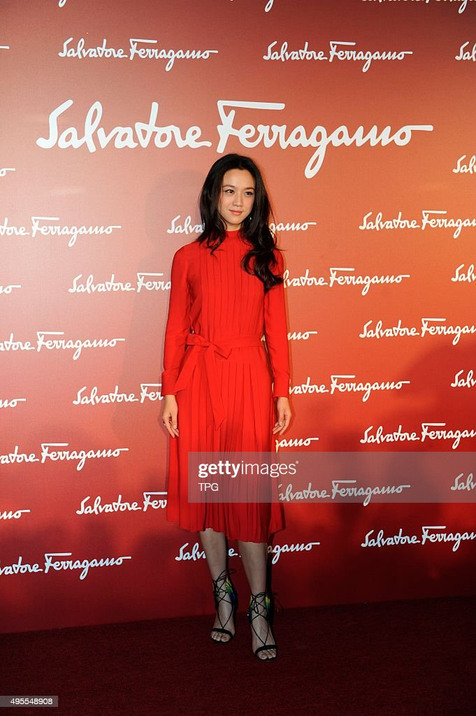 Wei Tang attends Ferragamo opening ceremony on 03th November, 2015 in Shanghai, China.