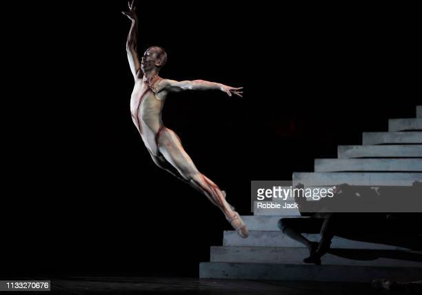 Wei Wang as The Creature in The Royal Ballet's production of Liam Scarlett's Frankenstein at The Royal Opera House on March 2, 2019 in London, United...