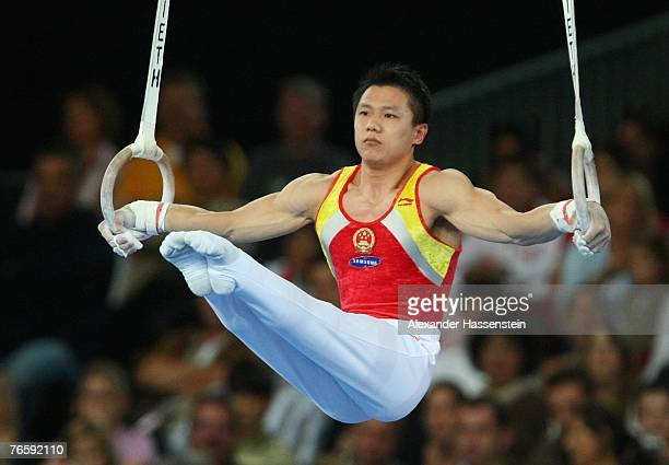 Wei Yang of China competes in the men's Ring final of the 40th World Artistic Gymnastics Championships on September 8 2007 at the HannsMartinSchleyer...