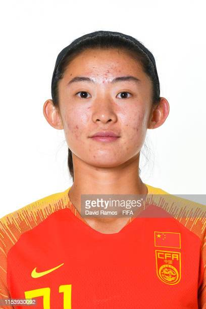 Wei Yao of China poses for a portrait during the official FIFA Women's World Cup 2019 portrait session at Chateau du BoisGuy on June 05 2019 in...