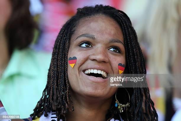 Weiblicher Deutschland Fan Frauenfussball Länderspiel Deutschland Nordkorea Korea DVR 20 am 21 5 2011