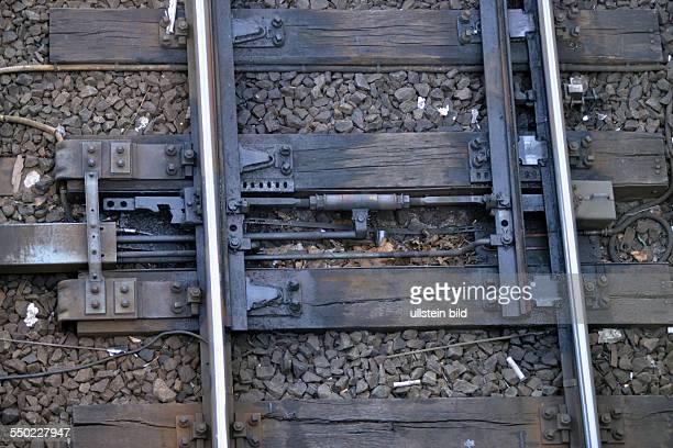 Weiche Gleise Berlin Deutschland
