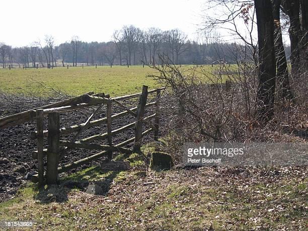 Weide, Künstlerdorf Worpswede , Niedersachsen, Deutschland, Europa, , Prod.-Nr.: 926/2003, Wiese, Zaun, Natur, Landschaft, Reise,