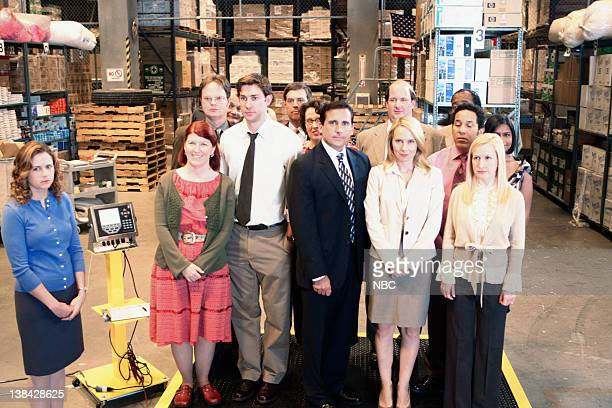 THE OFFICE Weight Loss Episode 1 Pictured Jenna Fischer as Pam Beesly Kate Flannery as Meredith Palmer John Krasinski as Jim Halpert Steve Carell as...