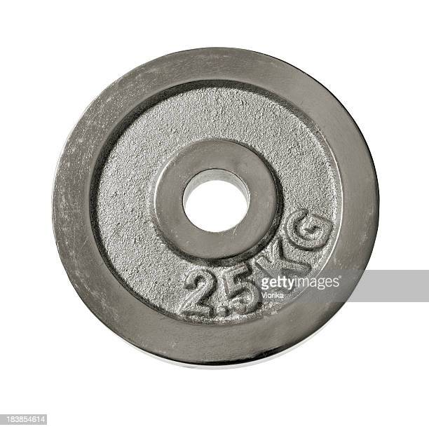 Weight plate on white