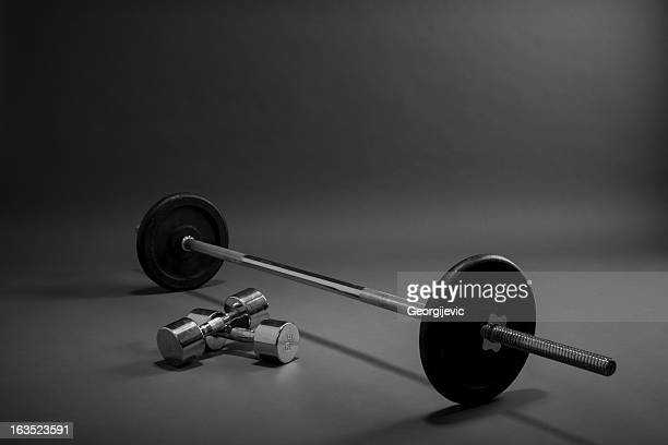 weight training equipment. - barbell stock pictures, royalty-free photos & images
