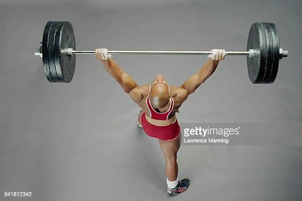 Weightlifter Hoisting Barbell