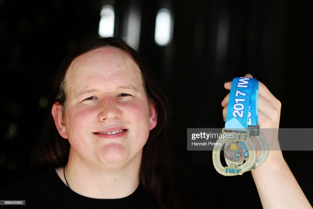 Weightlifter Laurel Hubbard poses during a portrait ...