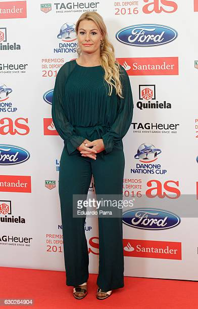 Weightlifter Lidia Valentin attends the 'As del deporte awards' photocall at Palace hotel on December 19 2016 in Madrid Spain