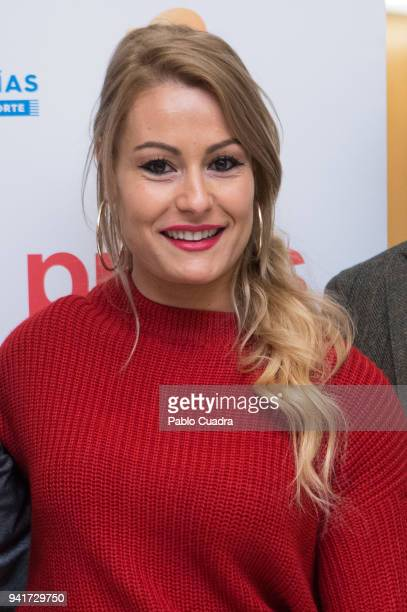 Weightlifter Lidia Valentin attends the 'Campeonas' breakfast organized by the news agency Europa Press at the Hesperia Hotel on April 4 2018 in...