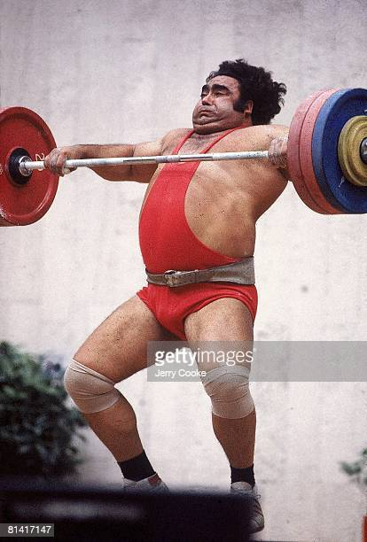 Weightlifting 1980 Summer Olympics USR Vasily Alexeyev in action during 2425 lb event Moscow USR 7/19/19808/3/1980