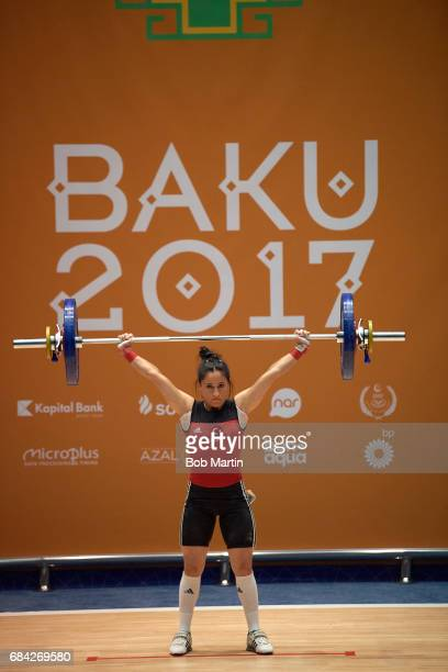 4th Islamic Solidarity Games Turkey Gamze Karakol in action during Women's 48KG at Azerbaijan Weightlifting Academy Baku Azerbaijan 5/13/2017 CREDIT...