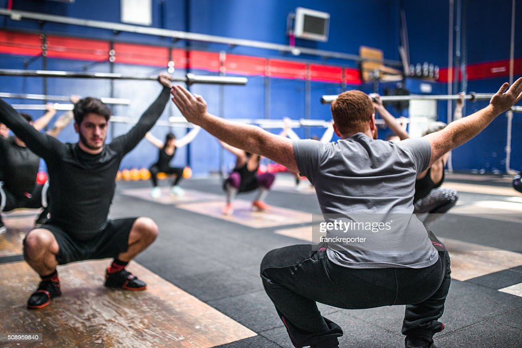 weightlifting class togetherness : Stock Photo