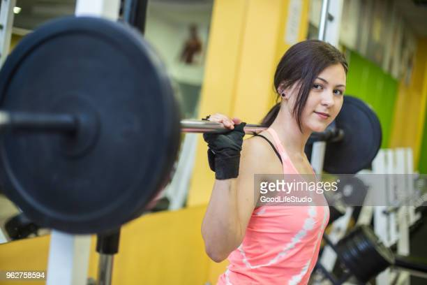 weightlifting - teenagers only stock pictures, royalty-free photos & images