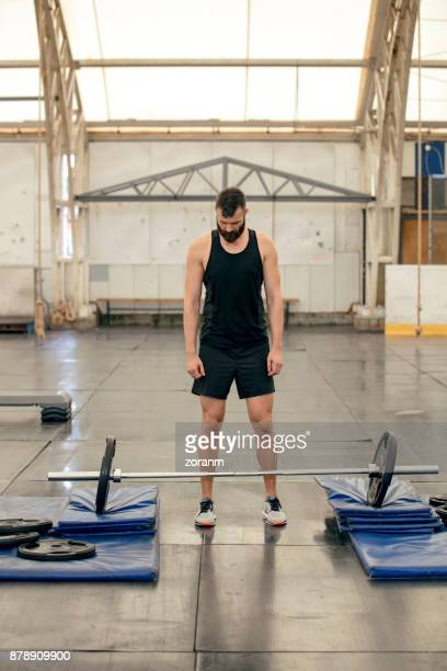 Weightlifting with barbell