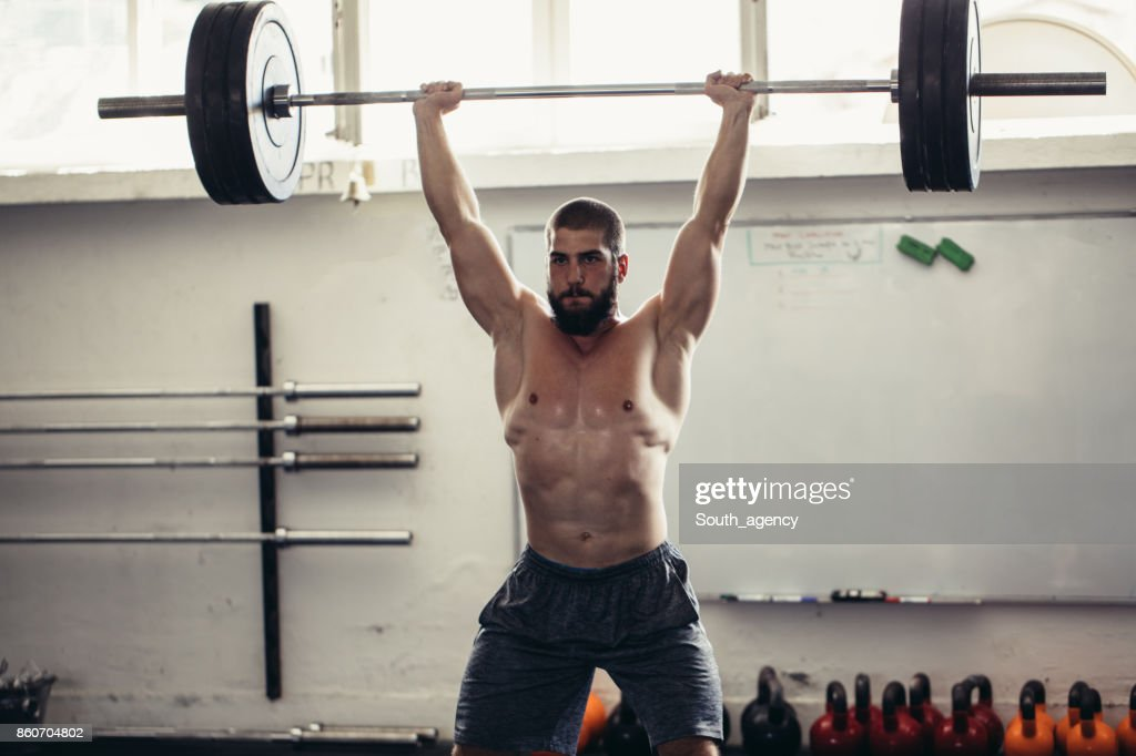Weights up : Stock Photo