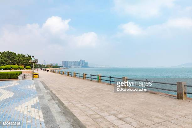 weihai shandong province china - waterfront stock pictures, royalty-free photos & images