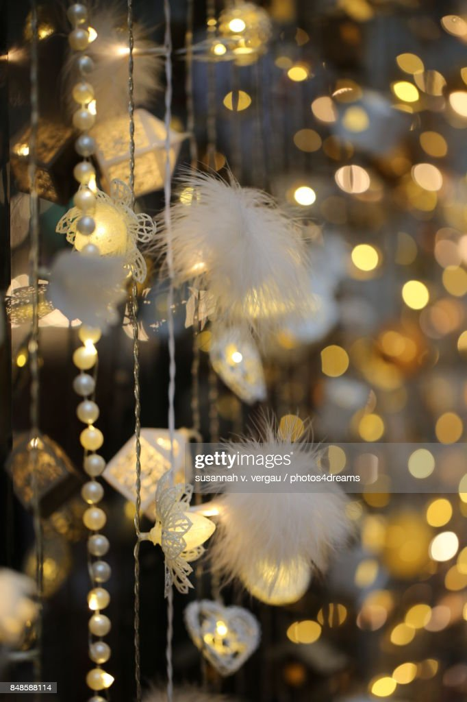 Weihnachtsdeko Lichterketten.Weihnachtsdeko Lichterketten Stock Photo Getty Images