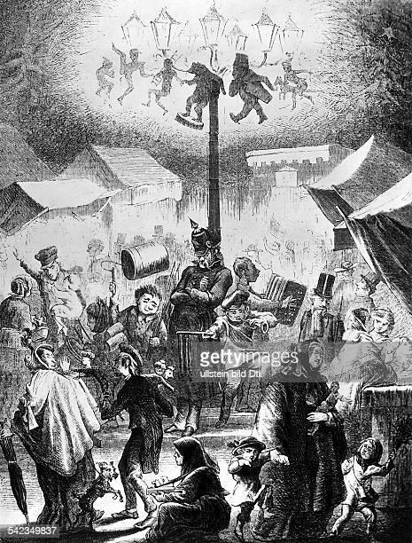 Weihnachtsmarkt in BerlinZeichnung aus dem Jahre 1859