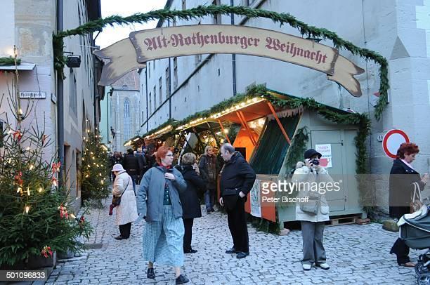 Weihnachtsmarkt Rothenburg ob der Tauber Landkreis Ansbach Bayern Deutschland Europa Weihnachten Weihnachtszeit Reiterlesmarkt Reise BB FTP PNr...