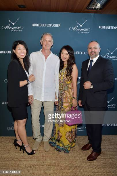 Weili Yeh Michael Thomson Sunghee Thomson and Edgar Jaghinyan attend Breguet Marine Collection Launch at Little Beach House Malibu on July 11 2019 in...