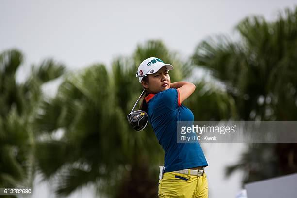 WeiLing Hsu of Chinese Taipei plays a shot in the Fubon Taiwan LPGA Championship on October 8 2016 in Taipei Taiwan
