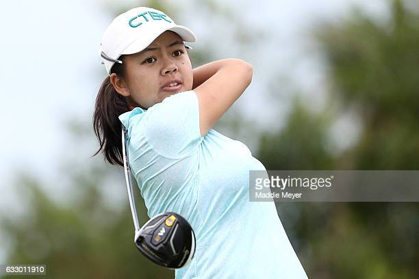 WeiLing Hsu of Chinese Teipei hits a tee shot on the fourth hole during the final round of the Pure Silk Bahamas LPGA Classic on January 29 2017 in...