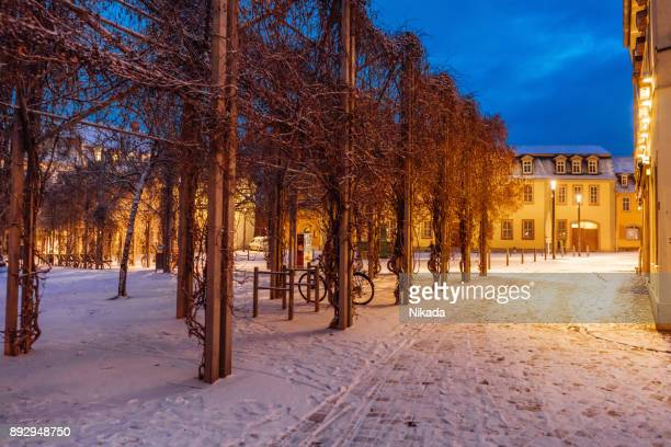 Weimar, Germany in Winter with snow