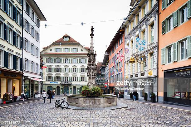 Weinmarkt town square in Luzerm Schweiz Herbst Tag