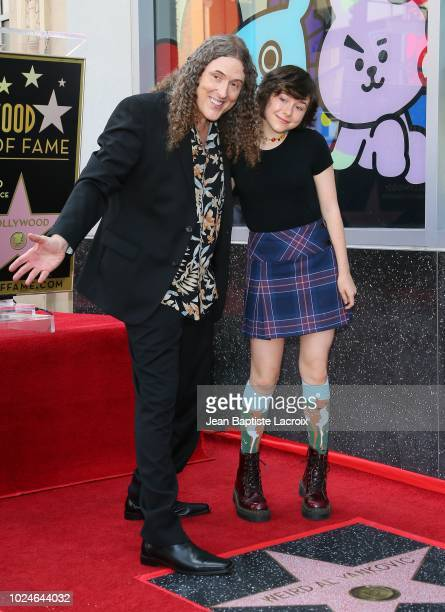 Weird Al Yankovic and daughter Nina Yankovic are honored with star on The Hollywood Walk of Fame on August 27 2018 in Los Angeles California