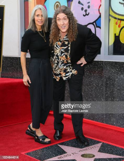 Weird Al Yankovic and his wife Suzanne Yankovic are honored with star on The Hollywood Walk of Fame on August 27 2018 in Los Angeles California