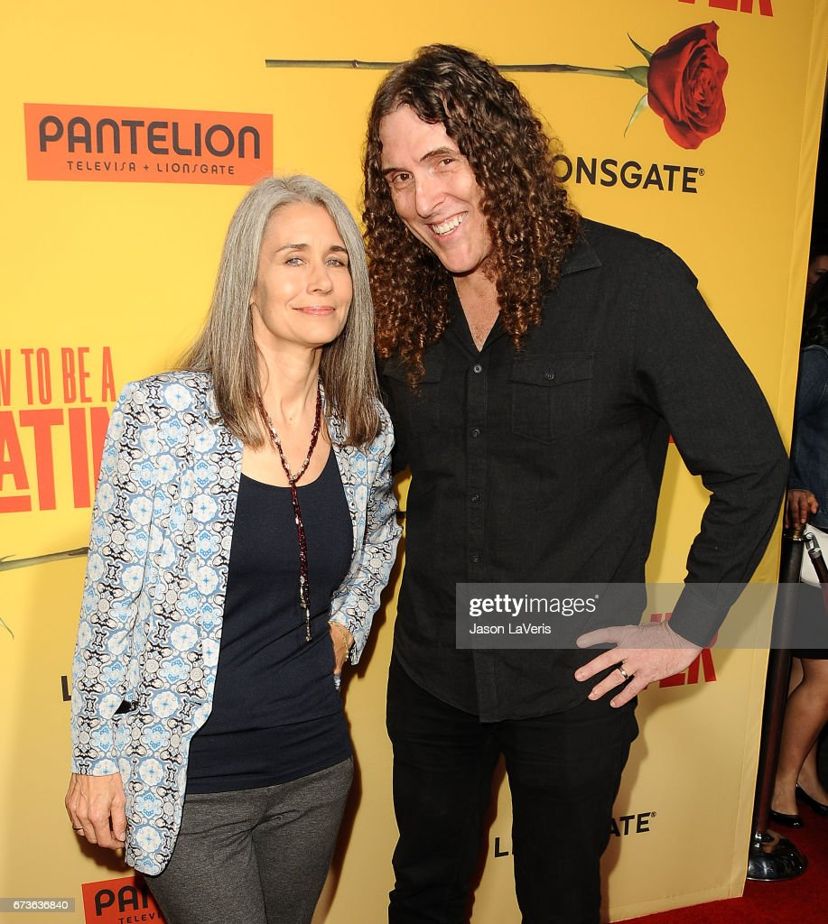 weird al yankovic and wife and suzanne krajewski attend the premiere of how to be