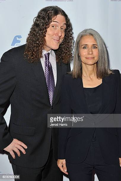 Weird Al Yankovic and wife Suzanne Krajewski arrive at Saban Community Clinic's 40th Annual Dinner Gala at The Beverly Hilton Hotel on November 14...