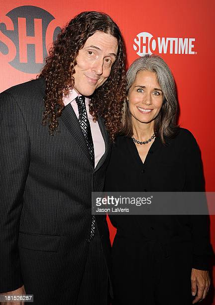 Weird Al Yankovic and wife Suzanne Krajewski attend the Showtime Emmy eve soiree at Sunset Tower on September 21 2013 in West Hollywood California