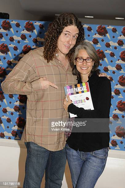 Weird Al Yankovic and wife Suzanne Yankovic attend Rainn Wilson's Soul Pancake Book Party at WME Screening Room on October 29 2010 in Los Angeles...