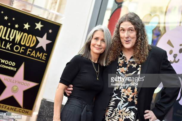 'Weird Al' Yankovic and wife Suzanne Yankovic attend the ceremony honoring 'Weird Al' Yankovic with star on the Hollywood Walk of Fame on August 27...
