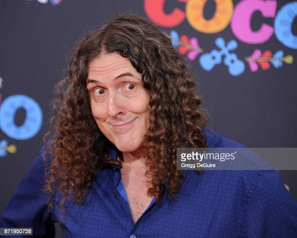 Weird Al Yankovic arrives at the premiere of Disney Pixar's 'Coco' at El Capitan Theatre on November 8 2017 in Los Angeles California