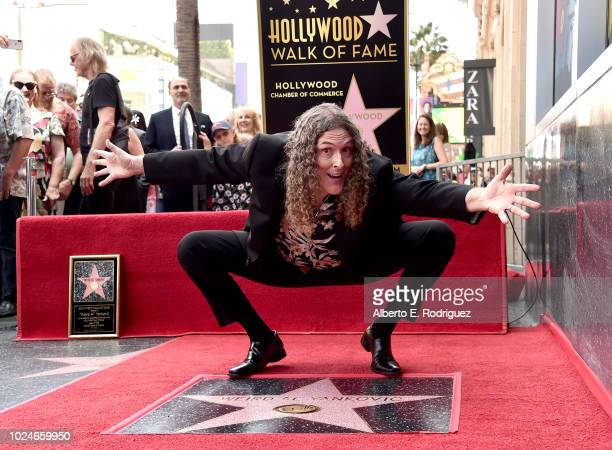 'Weird Al' Yankovic' attends a ceremony honoring him with the 2643rd star on the Hollywood Walk of Fame on August 27 2018 in Hollywood California