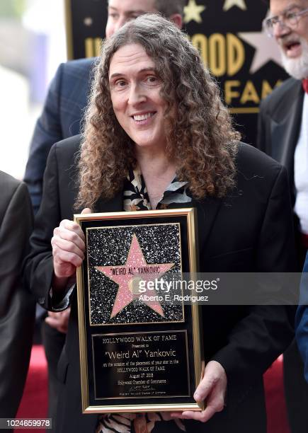 Weird Al Yankovic attends a ceremony honoring him with the 2643rd star on the Hollywood Walk of Fame on August 27 2018 in Hollywood California