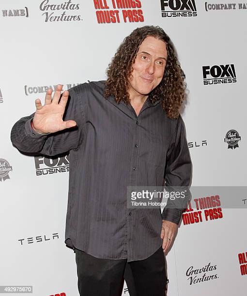 Weird Al Yankovic attends the premiere of 'All Things Must Pass' at Harmony Gold Theatre on October 15 2015 in Los Angeles California
