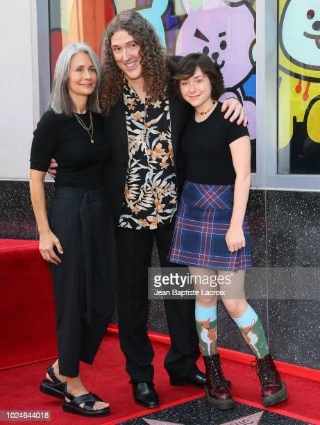 Weird Al Yankovic his wife Suzanne Yankovic and daughter Nina Yankovic are honored with star on The Hollywood Walk of Fame on August 27 2018 in Los...